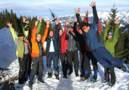 Weihnachtsfeier mit interaktiver Oberstdorf-Rallye